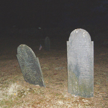 Gilson Road Cemetery at night