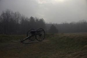 Cannon at battleground near Burkittsville - Blair Witch country