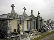 Metairie cemetery after Katrina