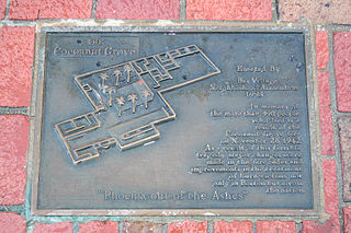 Plaque at Boston's Cocoanut Grove fire site.