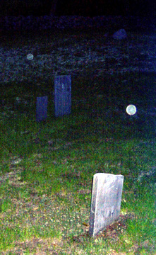ghostly orbs at gilson road cemetery