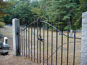 Gilson Rd Cemetery - iron gate
