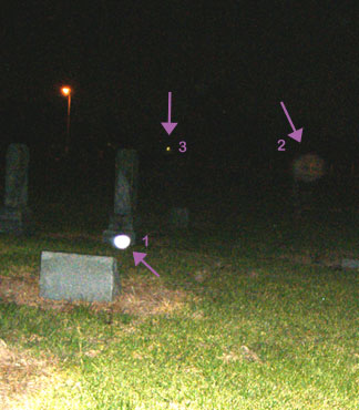 Orbs at Addicks Bear Creek Cemetery, Houston, TX
