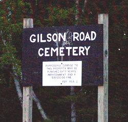 Gilson Rd Cemetery sign