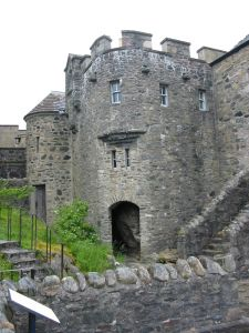 Scottish castle entrance