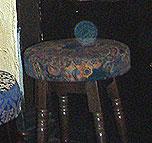 York - orb over chair in Golden Fleece