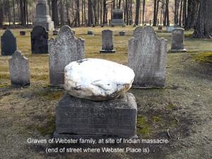 Webster family grave, Webster Place, Franklin, NH