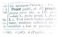 Proof - dictionary definition