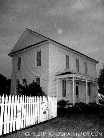 Ghost orb over historic home in Katy, TX