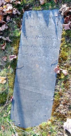Phebe Hutchins gravestone in Concord NH
