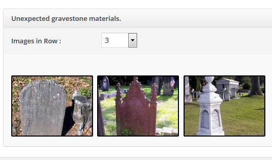 Unexpected materials in gravestones