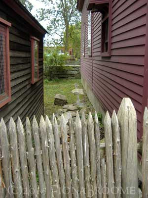 Between colonial Salem (MA) homes.