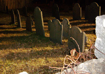 Graves at Salem's Old Burying Ground (MA)