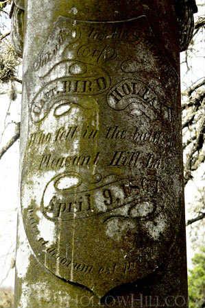 Memorial to Capt. Bird Holland