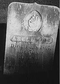 Abel Blood's gravestone