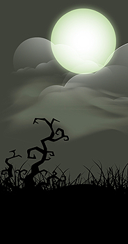 Full moon illustrations