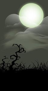 Full moon - ghostly scene