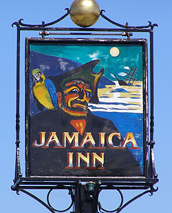 Jamaica Inn, England, sign