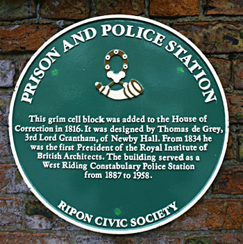 Ripon Prison historical plaque