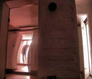 Eerie figure in doorway