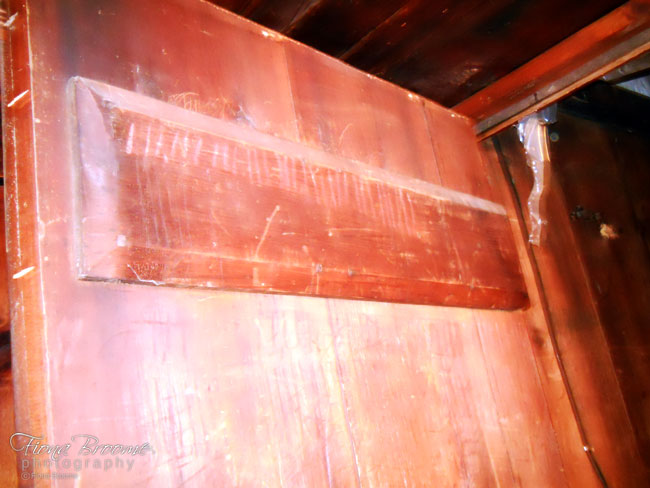 More hash marks and scratches inside haunted Laconia (NH) attic