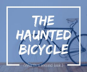 The haunted bicycle at Eden Camp.