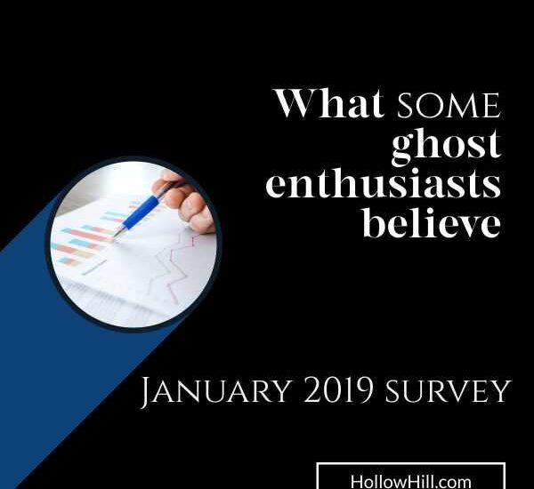 January 2019 survey of ghost enthusiasts' interests